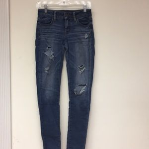 America Eagle Outfitters Distressed Jeans Size 4